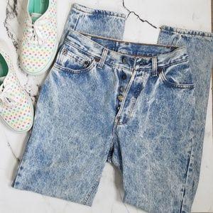 Levi's Vintage Acid Wash High Waist Jeans